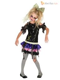 halloween doll costumes adults age 3 10 girls zombie doll costume kids halloween fancy dress