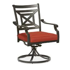 Stackable Mesh Patio Chairs by Allen Roth Kingsmead 2 Count Black Steel Stackable Swivel Rocker