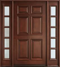 custom best solid wood for exterior door with frosted glass panels