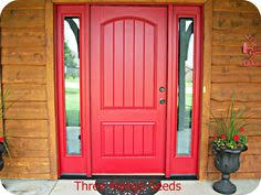 red front door sherwin williams heartthrob the new color of