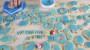 step by step making homemade gluten free sugar hanukkah cookies