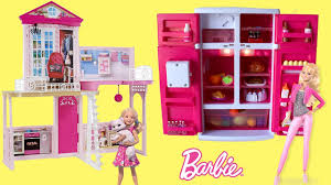 barbie dreamhouse u0026 fun food fridge play dollhouse fridge