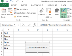 select case statement in microsoft office excel 2013 using vba