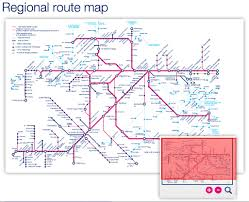Metro Violet Line Map by Great Western Train Rail Maps