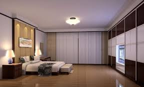 bedroom spacious area using bright bedroom overhead lighting above