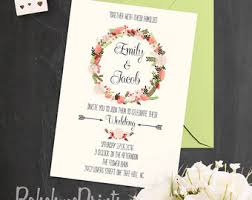 Shabby Chic Wedding Invitations by Custom Shabby Chic Wedding Invitation And Rsvp Cards Digital