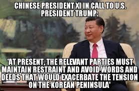 X I Meme - xi trump in phone call about north korea memenews