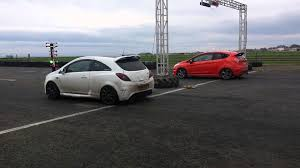 vauxhall ford crail ford fiesta st vs vauxhall corsa vxr youtube