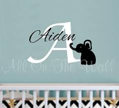 Baby Monogram Wall Decor 23 Best Boys Or Girls Images On Pinterest Name Wall Decals