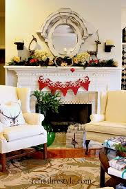 Christmas Deer Mantel Decorations by 114 Best Christmas Mantle Ideas Images On Pinterest Christmas