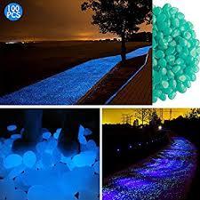 glow stones 100 pcs glow in the garden pebbles glowing stones