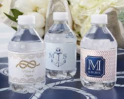 nautical wedding personalized water bottle labels nautical wedding personalized