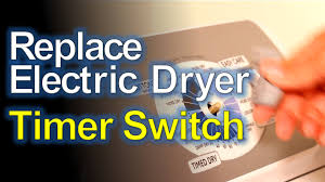 electric dryer timer start switch replacement youtube