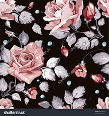 pleasing pink and black flower wallpaper great small home decor