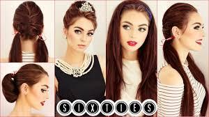 audrey hepburn hair tutorial easy u0026 cute 60 u0027s hairstyles