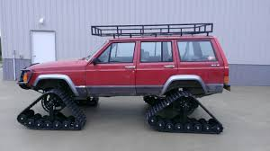 built jeep cherokee jeep cherokee on tracks ultimate ice truck fishingbuddy