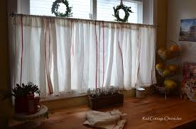 No Curtains Ikea Dishtowel Hack Red Cottage Chronicles