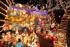 christmas lights on houses ne wall