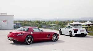 lexus better than mercedes lexus lf a 2010 vs mercedes sls 2010 test by car magazine