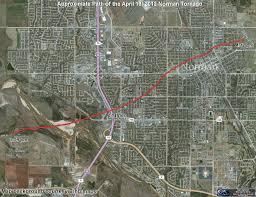 Tornado Map The April 13 2012 Norman Oklahoma Tornado