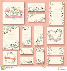 Wedding Invite Card Stock Colorful Greeting Wedding Invitation Card Stock Vector Image