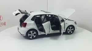 volkswagen white car paudi model vw volkswagen polo gti 2012 white diecast model car
