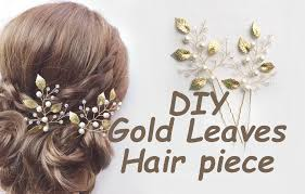hair pins how to make gold leaves hair pins bridal bohemian tutorial