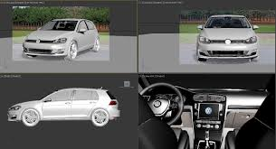 volkswagen cars list 3d vw golf vii 7 cgtrader