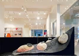 designboom hermes najla el zein sculpts a rocky terrain for hermès window display in dubai