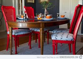 Dining Room Designs With A Red Touch Home Design Lover - Red dining room chairs