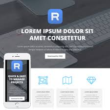 responsive html template to promote mobile app html template