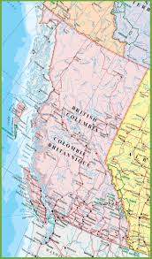 Map Of Canada Cities And Provinces by Large Detailed Map Of British Columbia With Cities And Towns