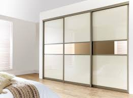 White sliding door wardrobe furniture beautiful a mirror glass