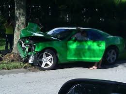 camaro forums 5th 5th synergy crashes into tree today camaro5 chevy camaro