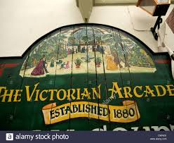 victorian shopping arcade in the spa town of ilkley in west