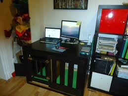 Cool Cubicle Ideas by Workspace Cool Home Office With Ikea Expedit Desk For Your