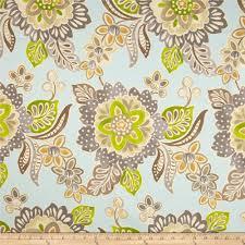 waverly jacobean floral twill aqua discount designer fabric