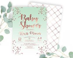 pink and gold baby shower invitations gold baby shower invite baby girl shower invitation confetti