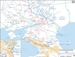 Ww2 Europe Map Map Of Russia 1942 German Advance To Stalingrad