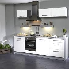 cuisines grises cuisine grise et blanche cuisine blanc laque plan travail bois 3