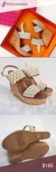 tory burch white daisy cork wedge sandals schuhe fes und