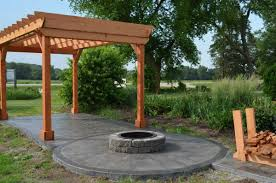 Western Red Cedar Outdoor Furniture by Breathtakung Patio With A Pergola From Western Red Cedar Lumber