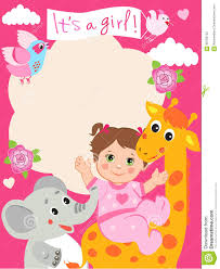 Invitation Card For Baby Baby Shower Invitation Card With Funny Giraffe Elephant