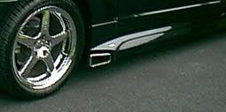 99 04 mustang exhaust 99 04 mustang roush side skirts for side exhaust urethane