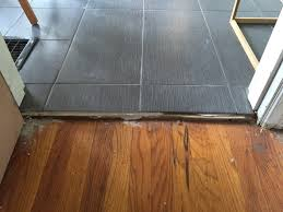 Uneven Floor Laminate Installation Flooring How Do I Transition From A Wood Floor To Tile That Has