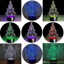 3d illusion night light hosyo christmas tree 3d changing lamp