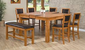 High Dining Room Tables Dining Room Counter Height Kitchen Table Pleasing Bar Height