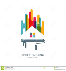 Vector Logo Label Or Emblem Design House Painting Service Decor - Home decoration services