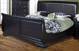 King Sleigh Bed New Classic Maryhill Rubbed Black King Sleigh Bed Maryhill