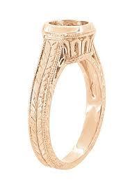 bezel ring deco low profile 14k gold filigree bezel setting
